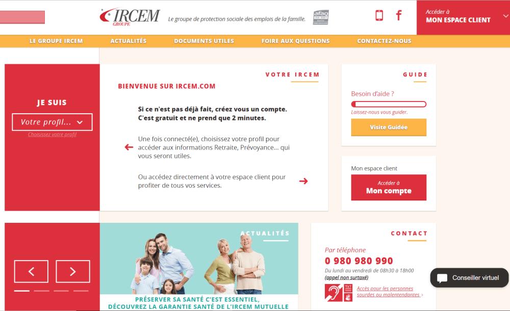 IRCEM Numerotelephone